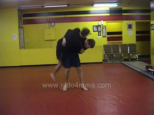 Click for a video showing a Judo for MMA technique called Uki Goshi for MMA - Floating Hip for MMA